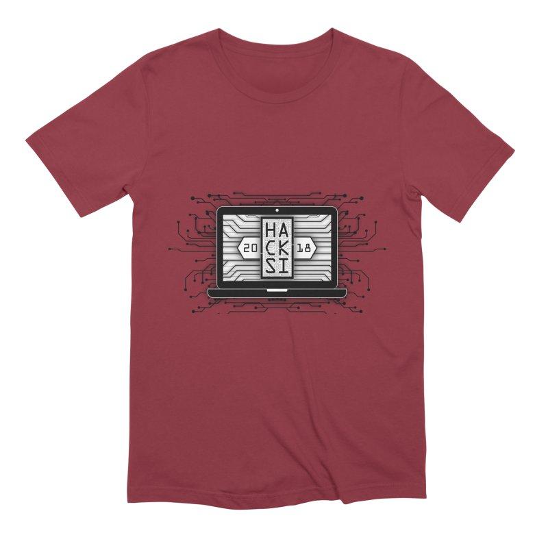 HackSI 2018 Laptop - Black Men's Extra Soft T-Shirt by The HackSI Shop