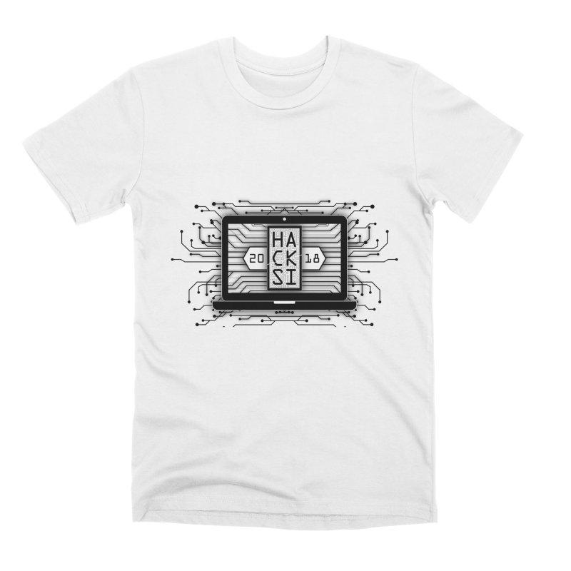 HackSI 2018 Laptop - Black Men's Premium T-Shirt by The HackSI Shop
