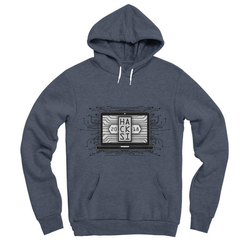 HackSI 2018 Laptop - Black Men's Sponge Fleece Pullover Hoody by The HackSI Shop