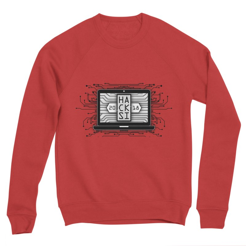 HackSI 2018 Laptop - Black Men's Sponge Fleece Sweatshirt by The HackSI Shop