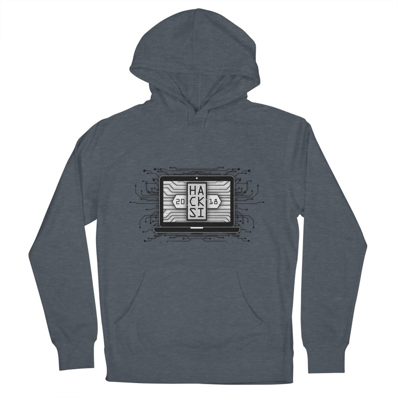 HackSI 2018 Laptop - Black Men's French Terry Pullover Hoody by The HackSI Shop