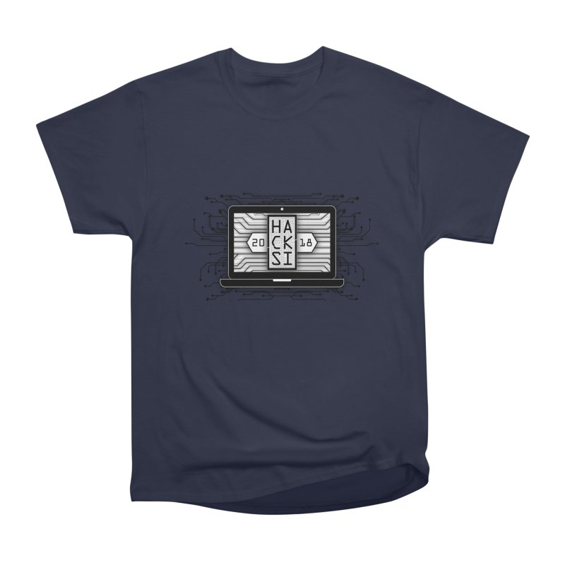 HackSI 2018 Laptop - Black Men's Heavyweight T-Shirt by The HackSI Shop