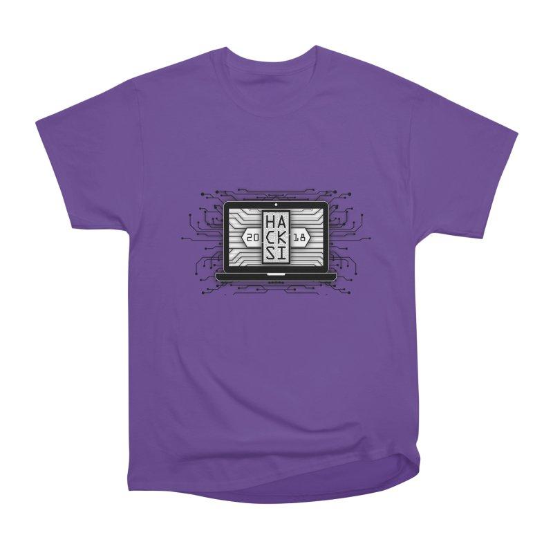 HackSI 2018 Laptop - Black Men's Heavyweight T-Shirt by The HackSI Shop