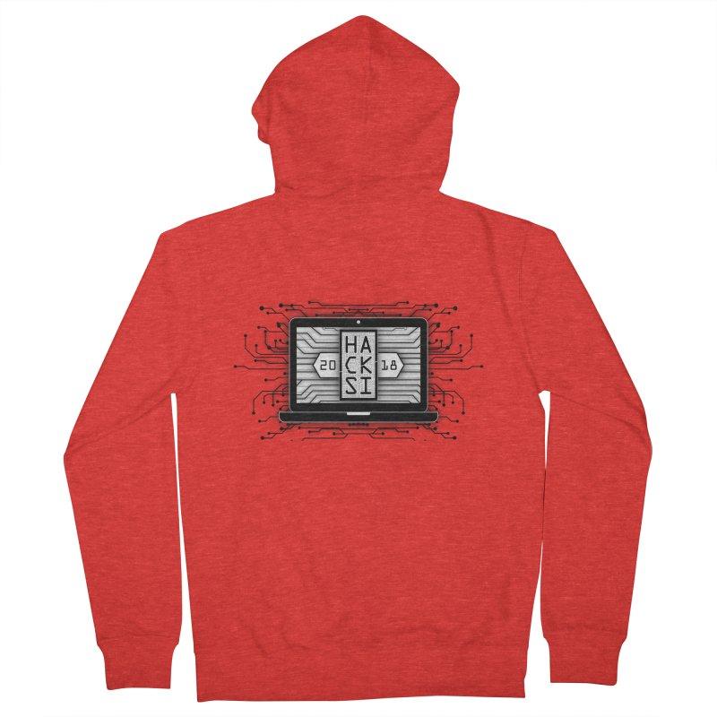 HackSI 2018 Laptop - Black Men's Zip-Up Hoody by The HackSI Shop