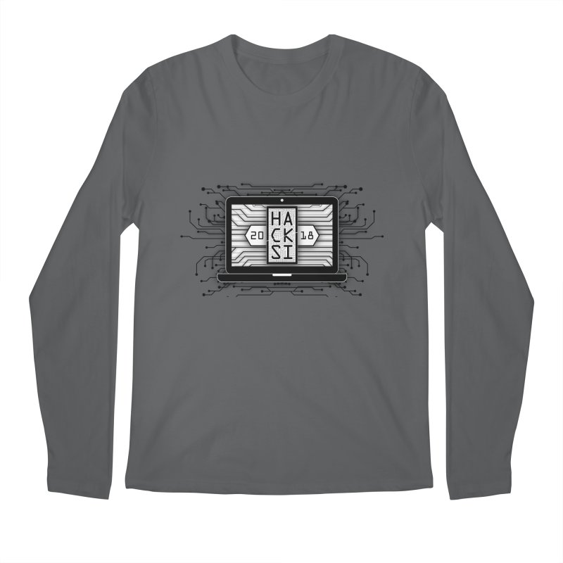 HackSI 2018 Laptop - Black Men's Longsleeve T-Shirt by The HackSI Shop