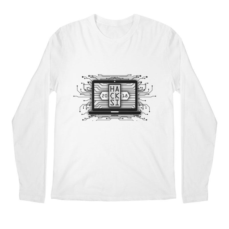 HackSI 2018 Laptop - Black Men's Regular Longsleeve T-Shirt by The HackSI Shop
