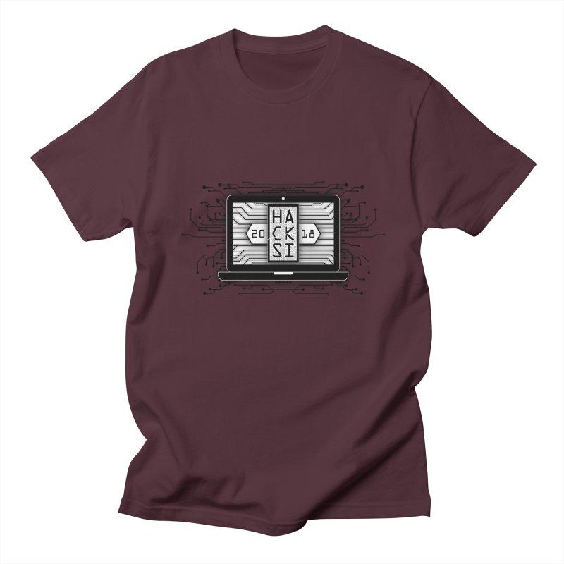 HackSI 2018 Laptop - Black Women's Regular Unisex T-Shirt by The HackSI Shop