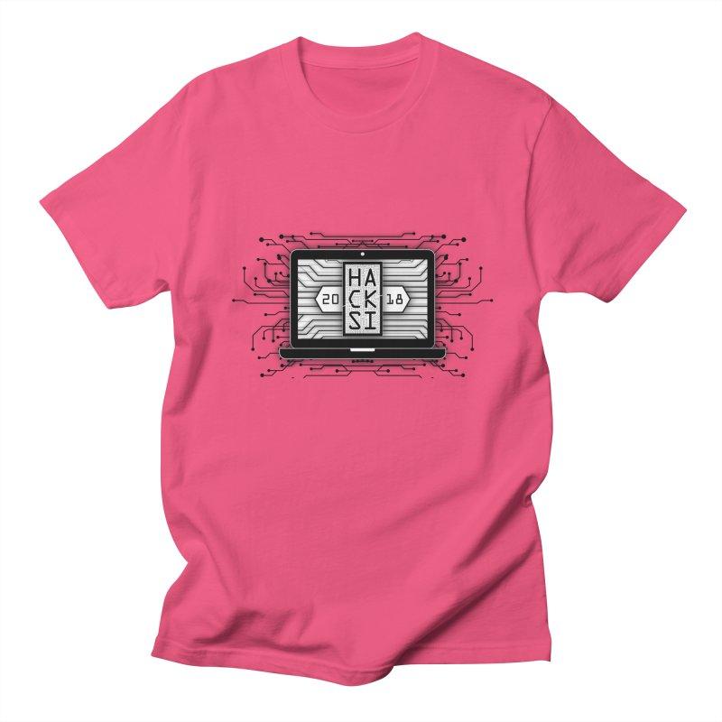 HackSI 2018 Laptop - Black Men's Regular T-Shirt by The HackSI Shop
