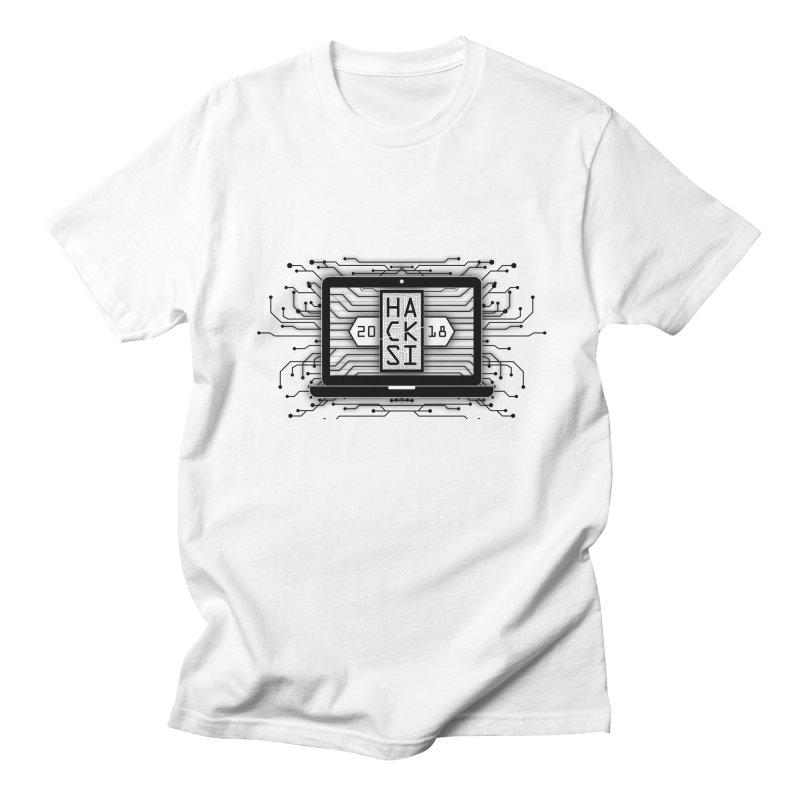 HackSI 2018 Laptop - Black Men's T-Shirt by The HackSI Shop