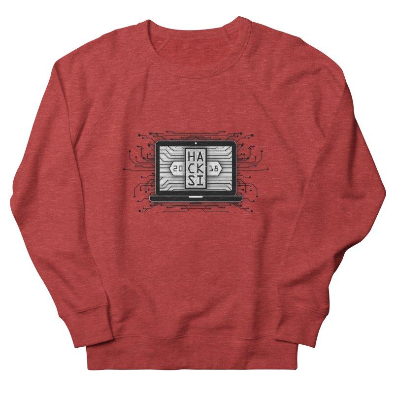 HackSI 2018 Laptop - Black Men's French Terry Sweatshirt by The HackSI Shop
