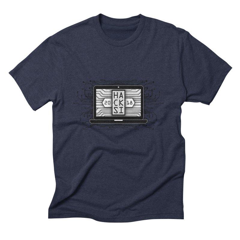 HackSI 2018 Laptop - Black Men's Triblend T-Shirt by The HackSI Shop