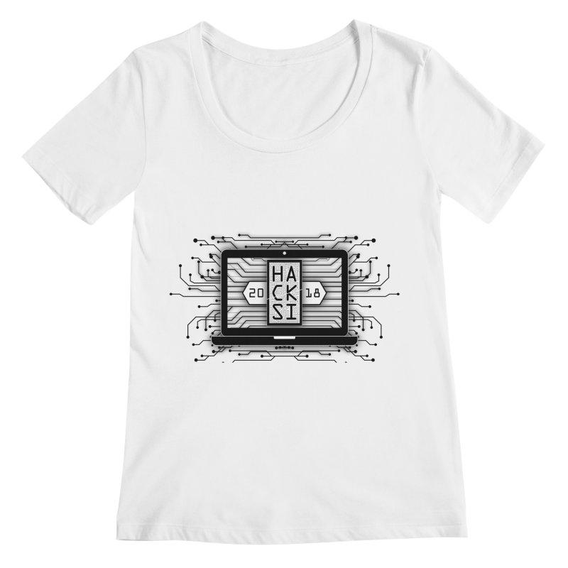 HackSI 2018 Laptop - Black Women's Regular Scoop Neck by The HackSI Shop