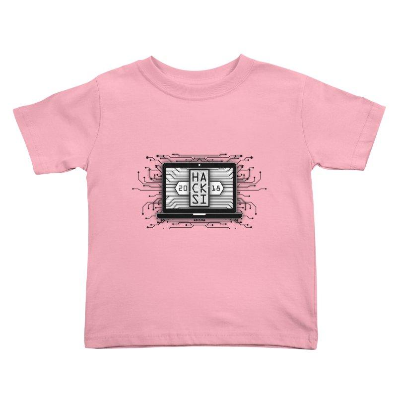 HackSI 2018 Laptop - Black Kids Toddler T-Shirt by The HackSI Shop