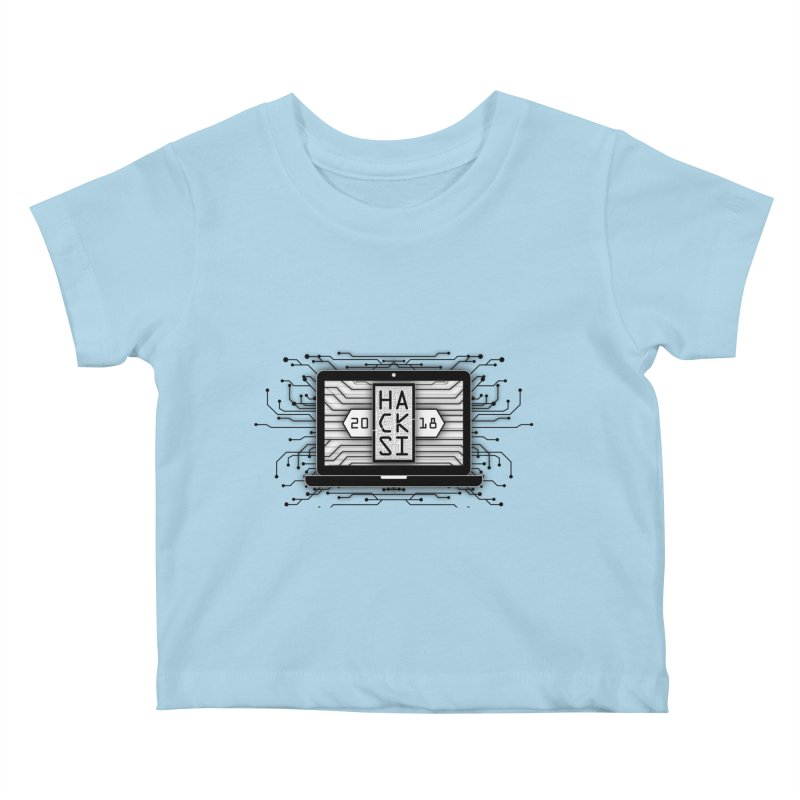HackSI 2018 Laptop - Black Kids Baby T-Shirt by The HackSI Shop