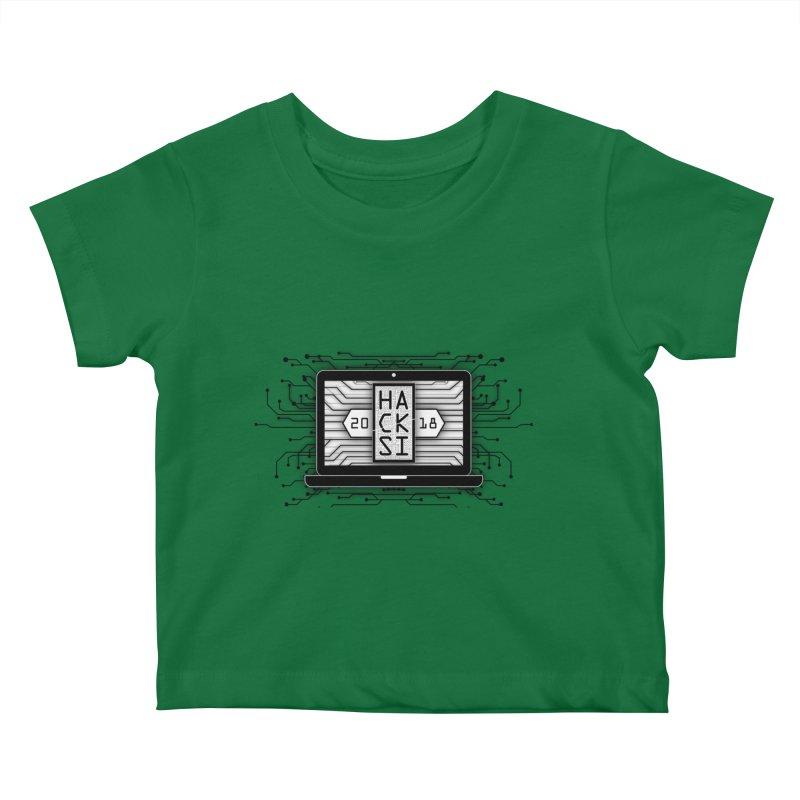 HackSI 2018 Laptop - Black Kids Baby T-Shirt by The HackSI Shop