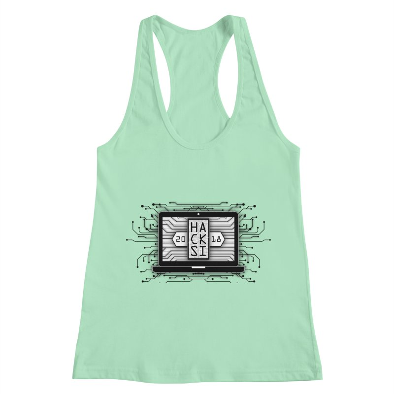 HackSI 2018 Laptop - Black Women's Racerback Tank by The HackSI Shop