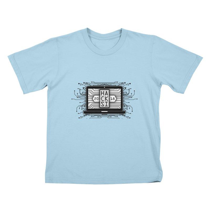HackSI 2018 Laptop - Black Kids T-Shirt by The HackSI Shop