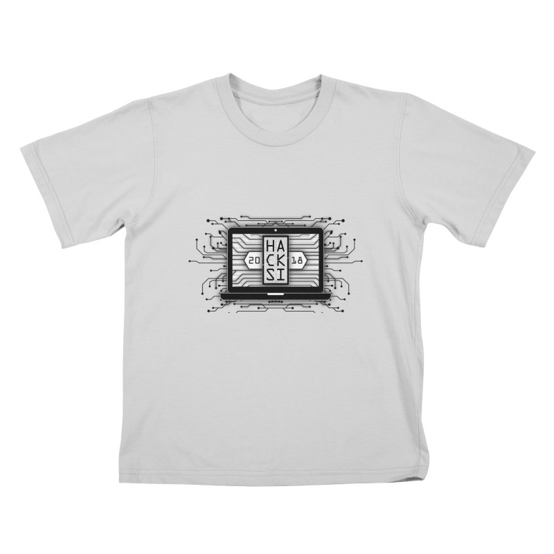 HackSI 2018 Laptop - Black Kids T-Shirt by The HackSI Shop