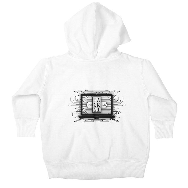 HackSI 2018 Laptop - Black Kids Baby Zip-Up Hoody by The HackSI Shop