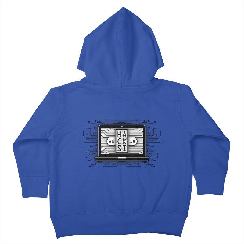 HackSI 2018 Laptop - Black Kids Toddler Zip-Up Hoody by The HackSI Shop