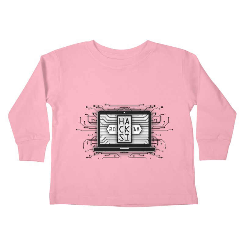 HackSI 2018 Laptop - Black Kids Toddler Longsleeve T-Shirt by The HackSI Shop