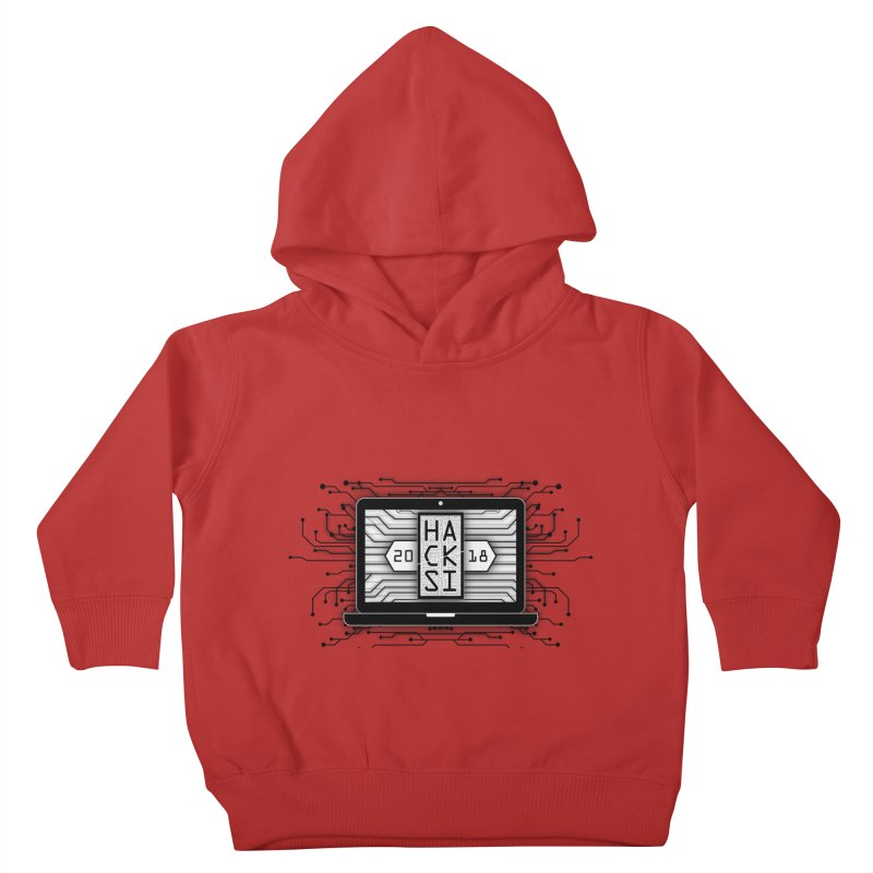 HackSI 2018 Laptop - Black Kids Toddler Pullover Hoody by The HackSI Shop
