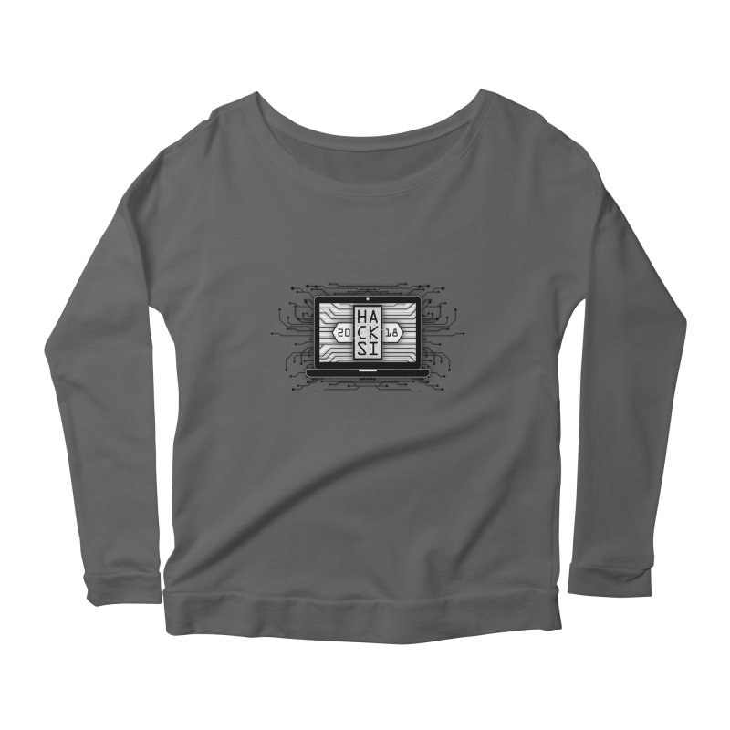 HackSI 2018 Laptop - Black Women's Scoop Neck Longsleeve T-Shirt by The HackSI Shop
