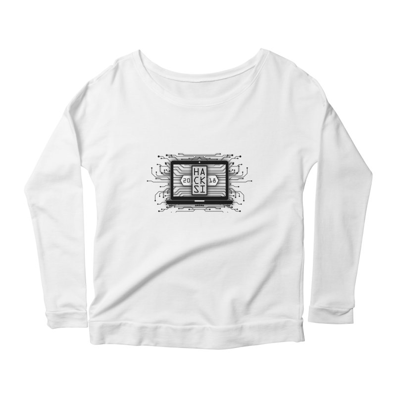 HackSI 2018 Laptop - Black Women's Scoop Neck Longsleeve T-Shirt by The HackSI Shop