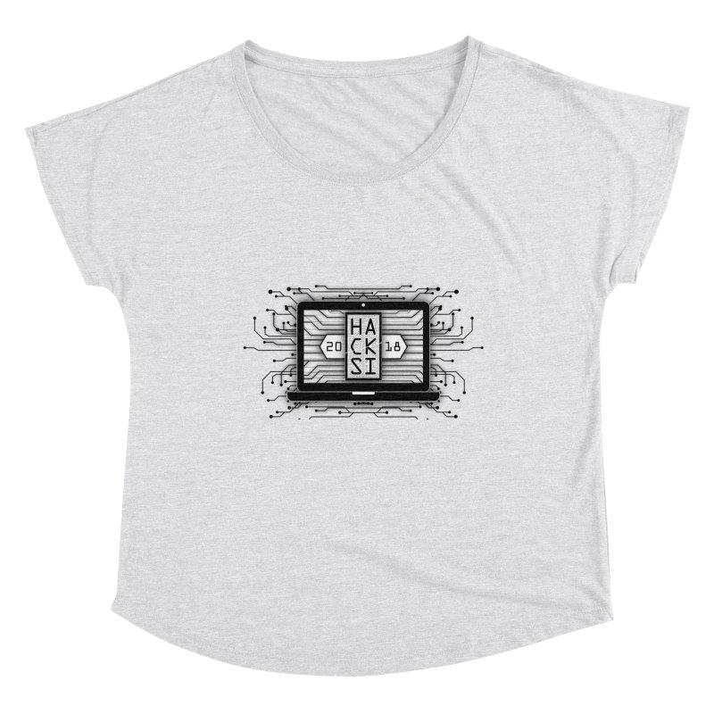 HackSI 2018 Laptop - Black Women's Dolman Scoop Neck by The HackSI Shop