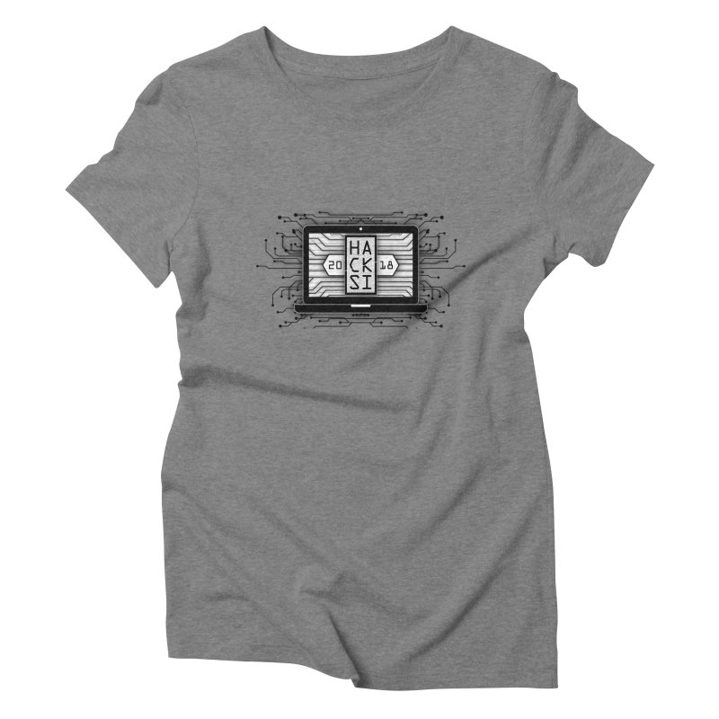 HackSI 2018 Laptop - Black Women's Triblend T-Shirt by The HackSI Shop