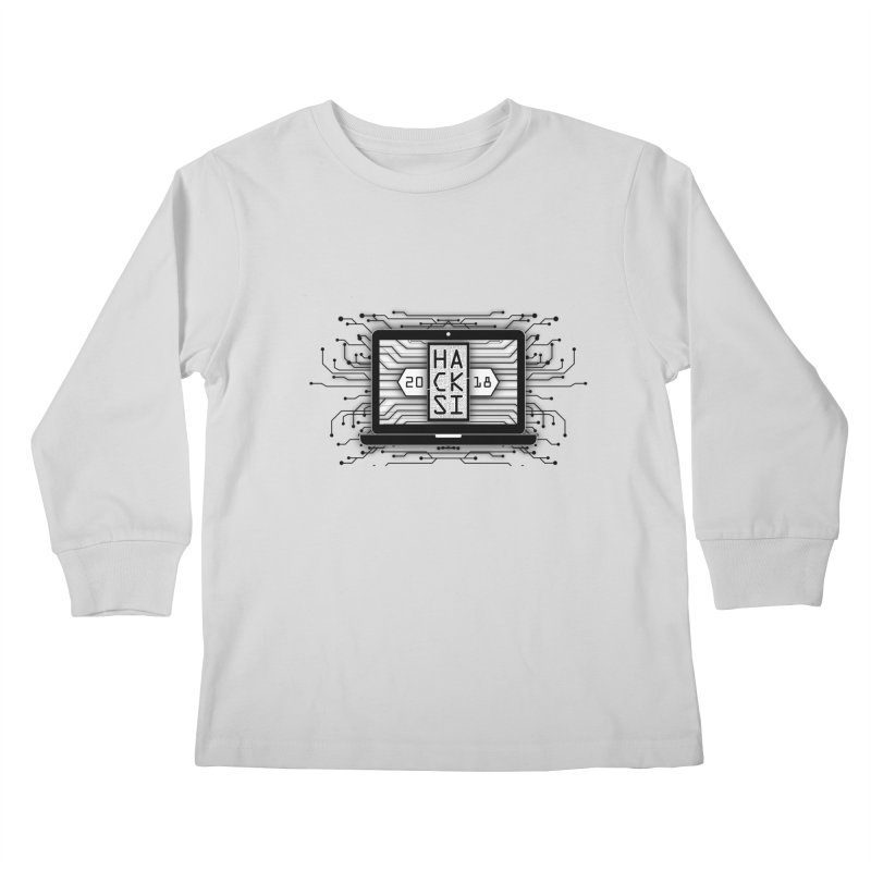 HackSI 2018 Laptop - Black Kids Longsleeve T-Shirt by The HackSI Shop