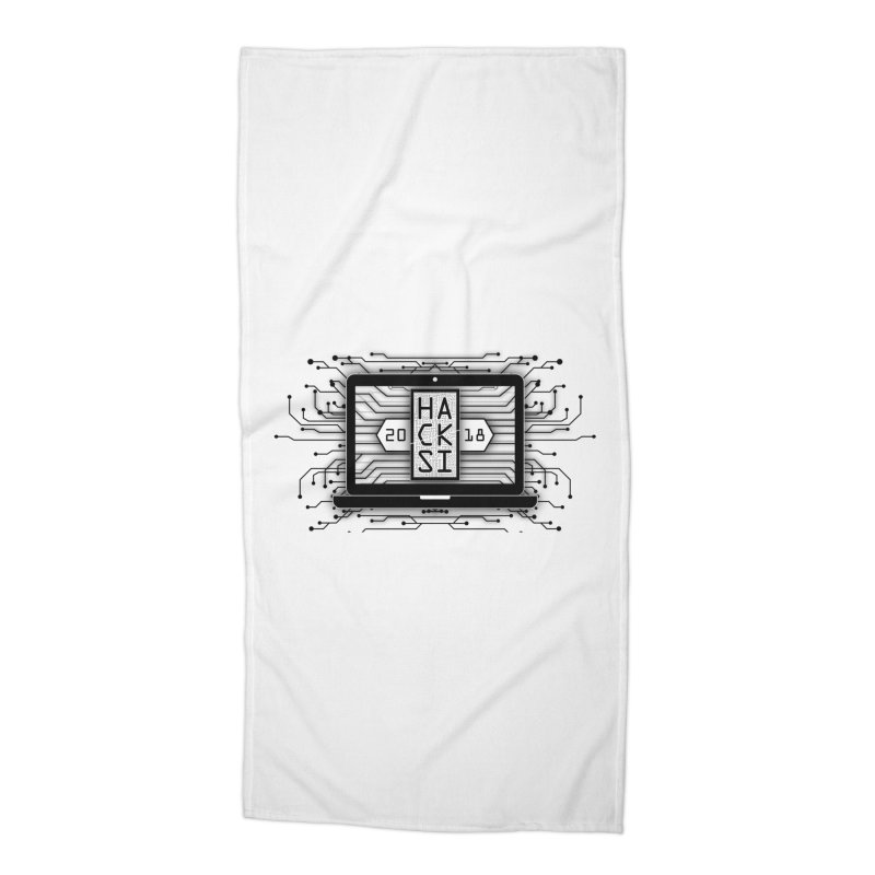 HackSI 2018 Laptop - Black Accessories Beach Towel by The HackSI Shop
