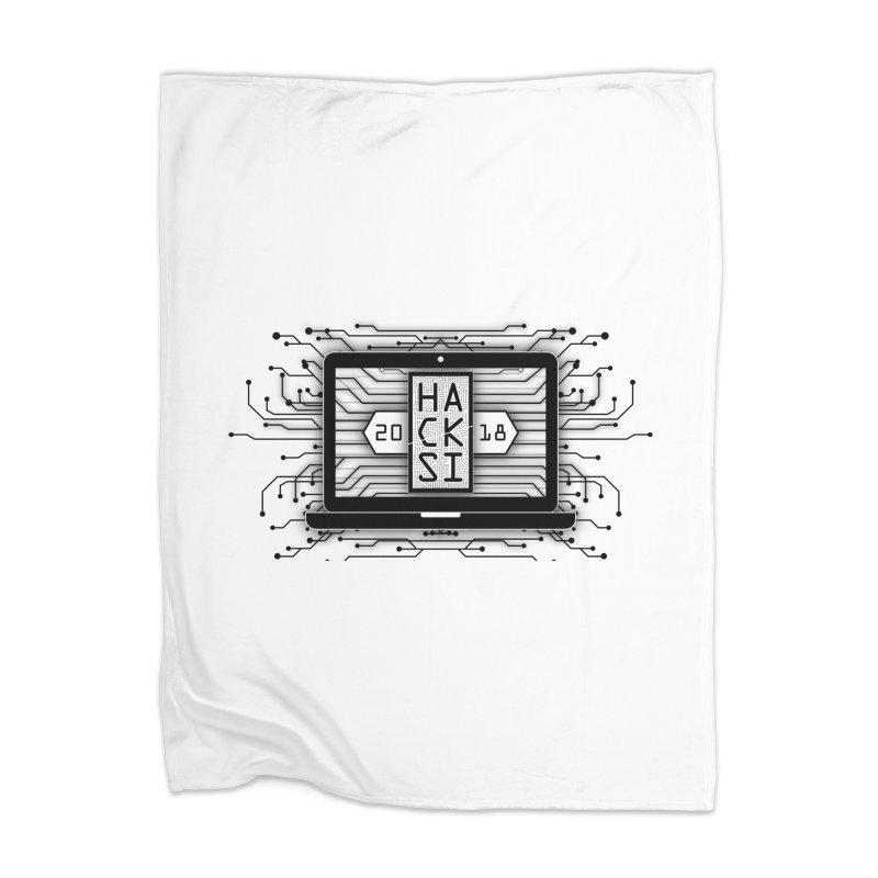 HackSI 2018 Laptop - Black Home Blanket by The HackSI Shop