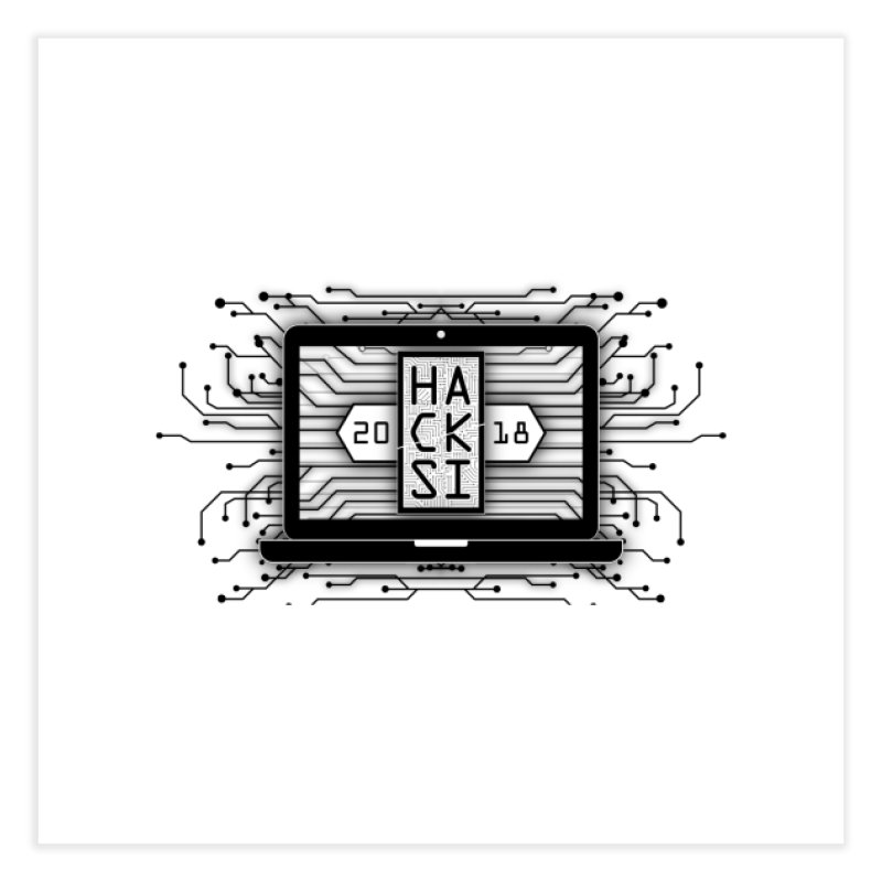 HackSI 2018 Laptop - Black Home Fine Art Print by The HackSI Shop