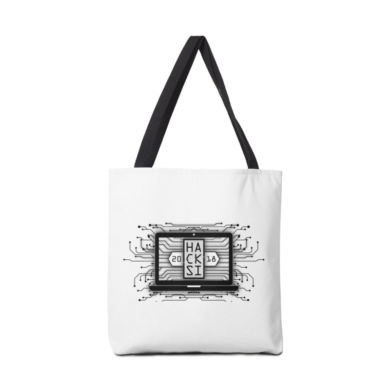HackSI 2018 Laptop - Black Accessories Tote Bag Bag by The HackSI Shop