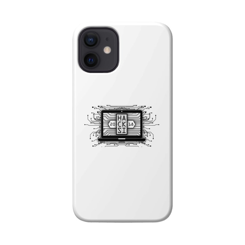 HackSI 2018 Laptop - Black Accessories Phone Case by The HackSI Shop