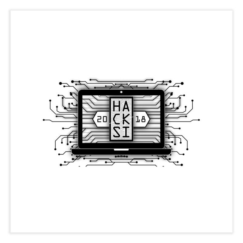 HackSI 2018 Laptop - Black Home Fine Art Print by The HackSI Shop