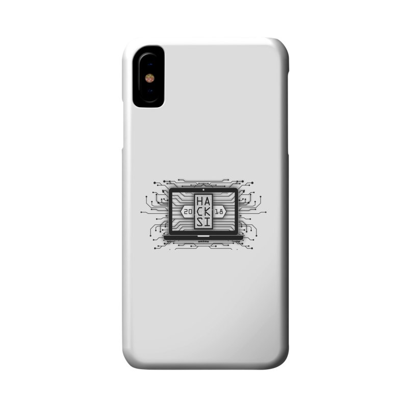 HackSI 2018 Laptop - Black Accessories Phone Case by The HackSI Shop