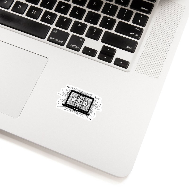 HackSI 2018 Laptop - Black Accessories Sticker by The HackSI Shop