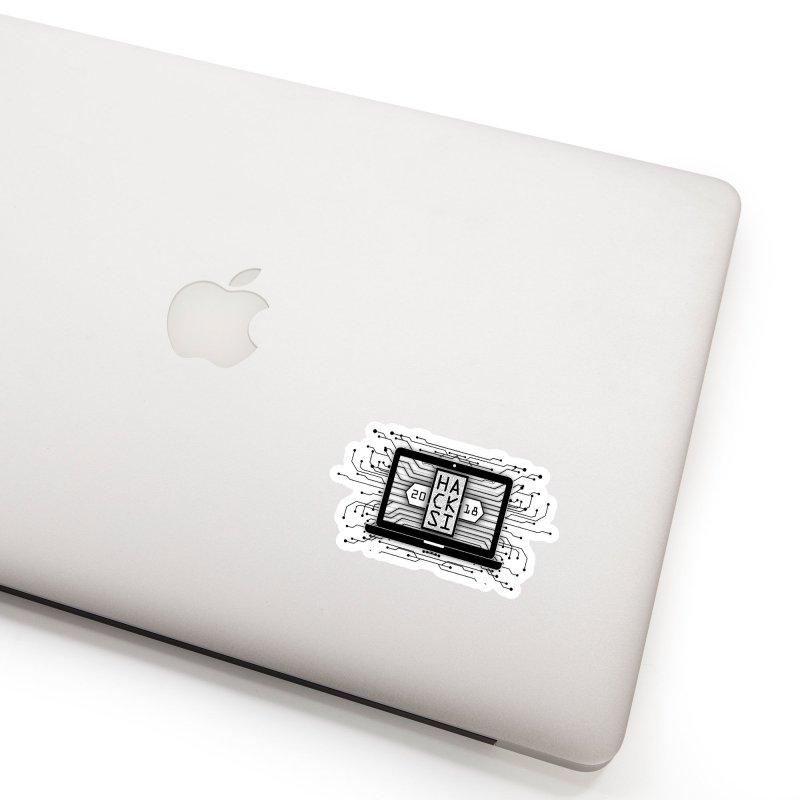 HackSI 2018 Laptop - Black Accessories Sticker by The HackSI Shop