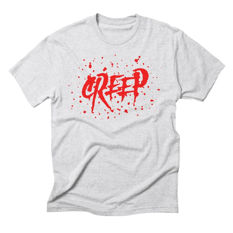 Creep in Men's Triblend T-Shirt Heather White by The Daily Pick
