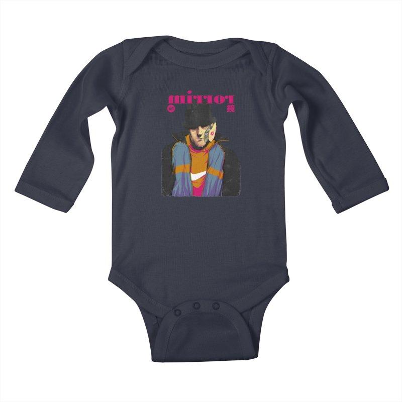 Mirror Issue 1 Kids Baby Longsleeve Bodysuit by hafaell's Artist Shop