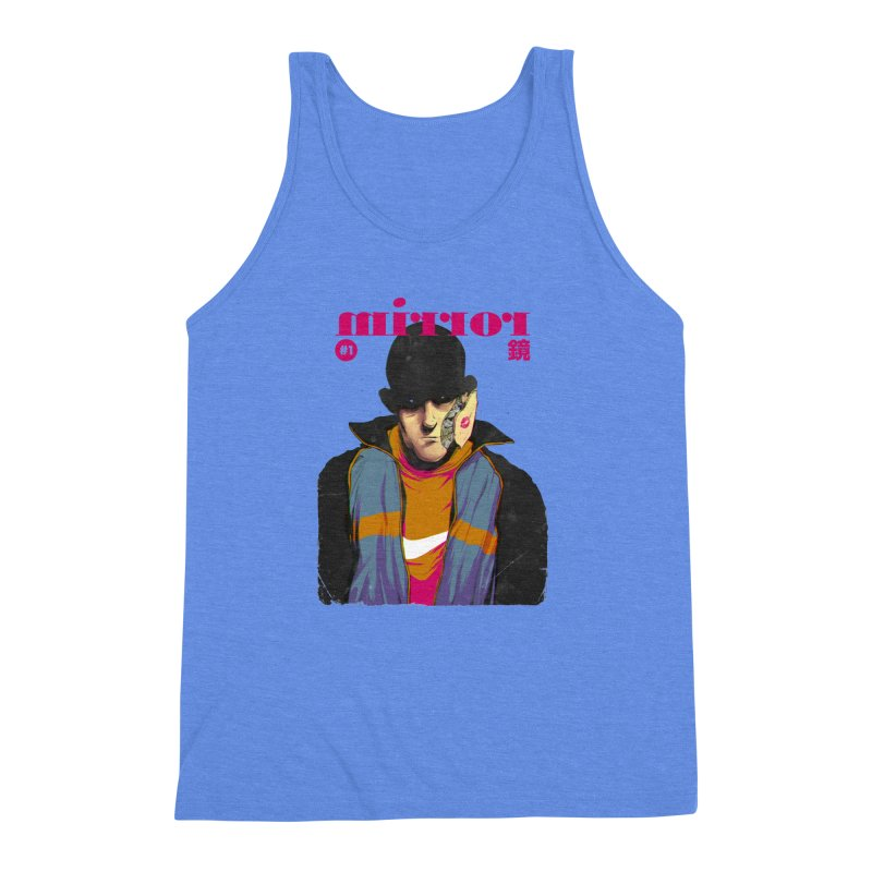 Mirror Issue 1 Men's Triblend Tank by hafaell's Artist Shop