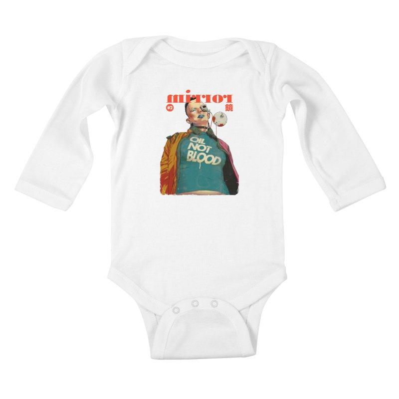 Mirror Issue 2 Kids Baby Longsleeve Bodysuit by hafaell's Artist Shop