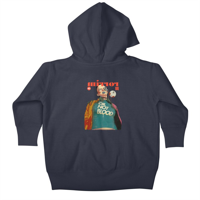 Mirror Issue 2 Kids Baby Zip-Up Hoody by hafaell's Artist Shop
