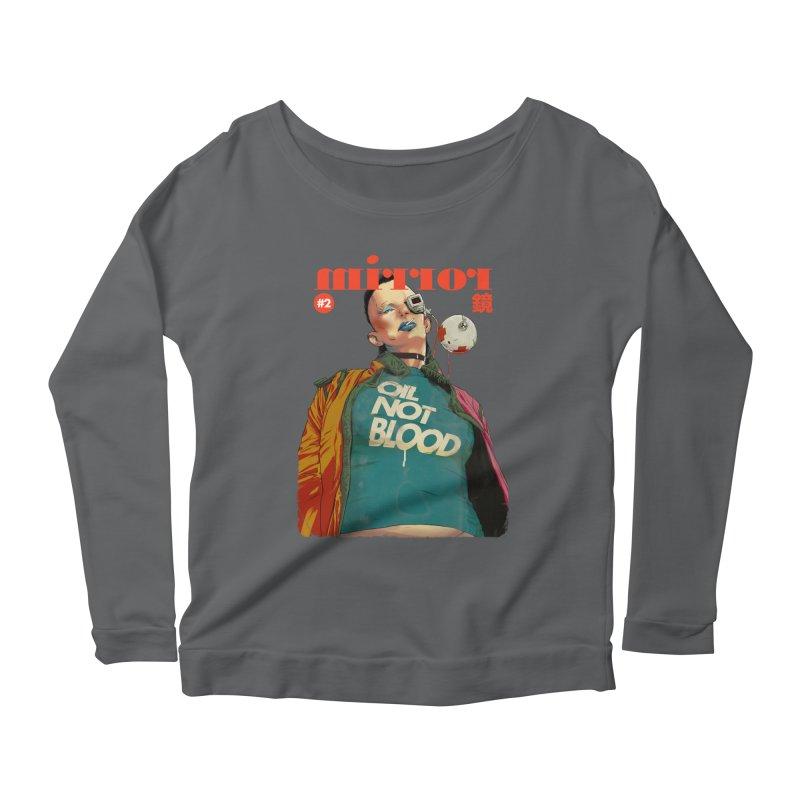 Mirror Issue 2 Women's Scoop Neck Longsleeve T-Shirt by hafaell's Artist Shop