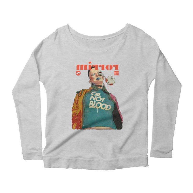 Mirror Issue 2 Women's Longsleeve Scoopneck  by hafaell's Artist Shop