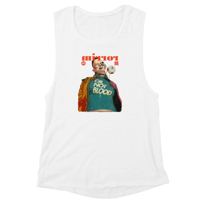 Mirror Issue 2 Women's Muscle Tank by hafaell's Artist Shop