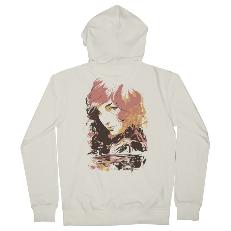 Volcanic Heat Men's Zip-Up Hoody by hafaell's Artist Shop