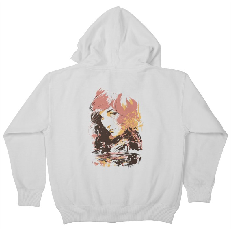 Volcanic Heat Kids Zip-Up Hoody by hafaell's Artist Shop